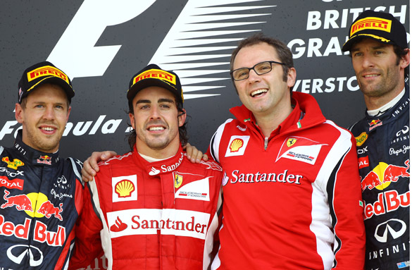 Fernando ALonso Ferrari British Grand prix 2011