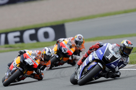 Jorge Lorenzo leads at the Sachsenring