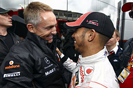Martin Whitmarsh and Lewis Hamilton, McLaren, 2011