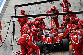 Ferrari admits work needed on pitstops