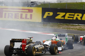 Paul di Resta Nick heidfeld Force India Renault German grand prix 2011