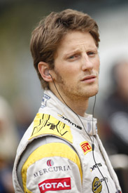 Romain Grosjean DAMS Gp2 Hunaroring 2011