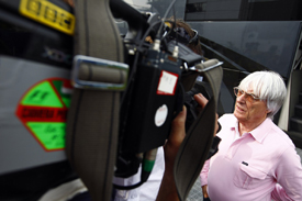 Bernie Ecclestone is interviewed for television