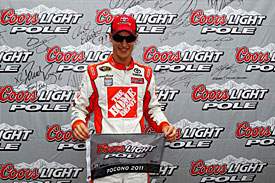 Joey Logano, Joe Gibbs Racing, Pocono 2011