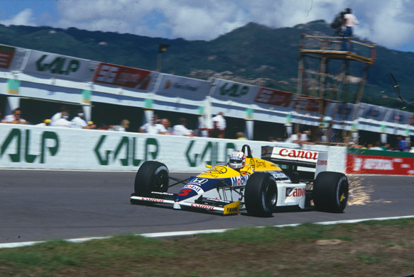 Nigel Mansell Williams 1986 Portuguese Grand Prix