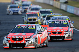Craig Lowndes leads at Queensland Raceway