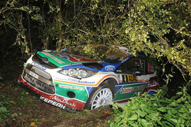 Jari-Matti Latvala's crashed Ford, Germany, 2011