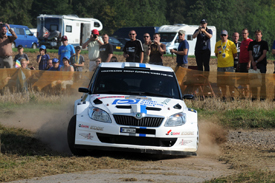 Christian Riedemann in the VW Skoda in Finland