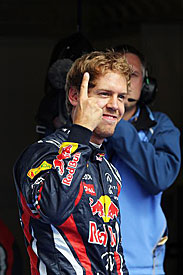 Sebastian Vettel, Spa, pole, 2011
