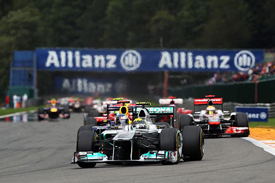 Nico Rosberg leads at Spa