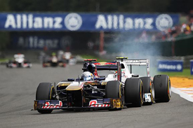 Sebastien Buemi and Sergio Perez collide at Spa