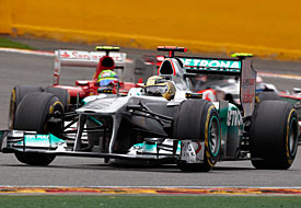 Michael Schumacher, Mercedes, Spa, 2011