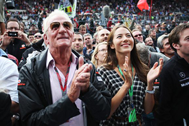 Jenson Button's father John is an ever-present figure in the paddock