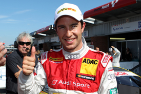 MIke Rockenfeller Abt Audi DTM Brands Hatch 2011