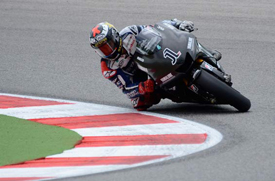 Jorge Lorenzo tests the 1000cc Yamaha at Misano