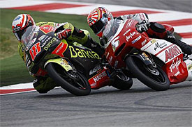 Johan Zarco fights with Nico Terol