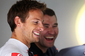Jenson Button is pondering McLaren's 2012 hopes