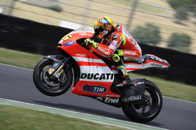 Valentino Rossi test the Ducati GP12 at Mugello