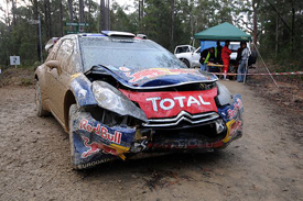 Sebastien Ogier's crashed Citroen in Australia