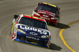 Jimmie Johnson and Jeff Gordon, Hendrick Chevrolet, Richmond 2011