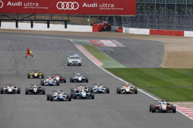 Roberto Merhi leads at Silverstone
