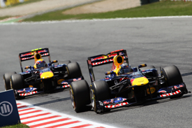 Sebastian Vettel Mark Webber Red Bull 2011 Spanish Grand PRix