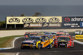 Will Davison, Ford Performance Racing, leads at Phillip Island