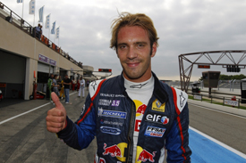 Jean-Eric Vergne celebrates Paul Ricard pole