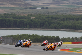 Casey Stoner leads at Aragon