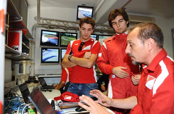 Jules Bianchi Sergio Perez Ferrari 2011