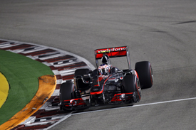 Jenson Button, McLaren, Singapore 2011