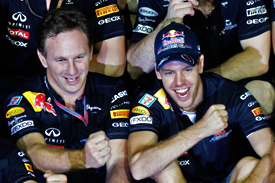 Christian Horner and Sebastian Vettel Singapore 2011