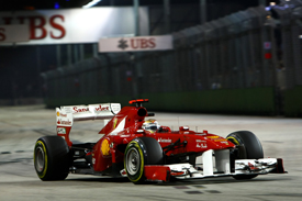 Fernando Alonso Ferrari 2011 Singapore Grand Prix