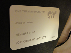 The much-sought-after OTA membership card