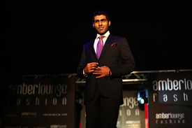 Karun Chandhok struts his stuff on the catwalk