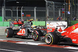 Hamilton and Massa clashed on and off the track