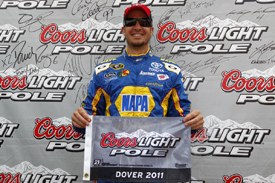 Martin Truex Jr takes Dover pole