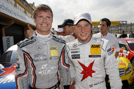 David Coulthard Renger van der Zande MErcedes DTM VAlencia 2011