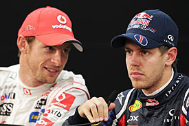 Jenson Button and Sebastian Vettel, Japan, 2011