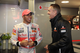 Lewis Hamilton Martin Whitmarsh McLaren 2011 German Grand Prix