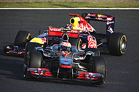 Jenson Button and Sebastian Vettel, Japan 2011
