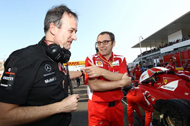 Jonathan Neale and Stefano Domenicali