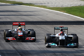 Michael Schumacher Mercedes Lewis Hamilton McLaren 2011 Italian Grand Prix