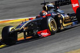 Robert Kubica Renault 2011 Barcelona test F1
