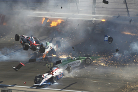 Las Vegas IndyCar crash