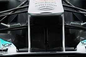 Mercedes F-duct wing