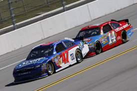 Bobby Labonte and Tony Stewart in tandem at Talladega