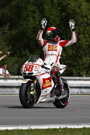 Brno brought his maiden podium at last