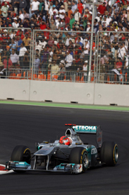 Michael Schumacher, Mercedes, India 2011