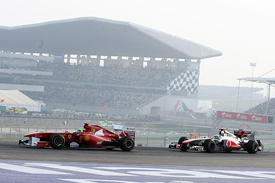 Felipe Massa leads Lewis Hamilton in India